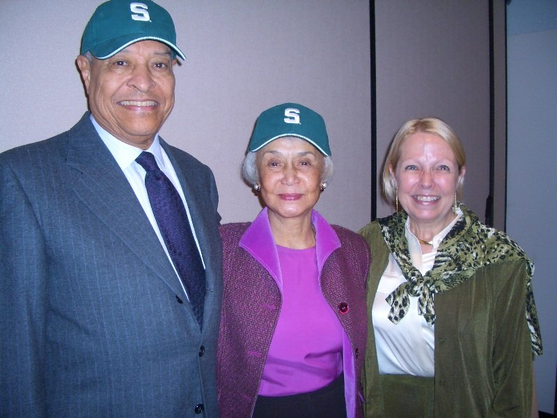 MSU President Clifton and Dolores Wharton